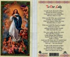 Holy Cards on eBay - To Our Lady Dressed in Blue Teach Me What To Say - HC9-055E