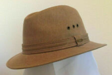 STETSON SALE * MENS SAFARI HAT * M L * NEW COTTON CANVAS WINTER SUN FEDORA GOLF