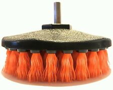 "Medium duty Scrub Brush Car Carpet Mat 5"" Round Brush w/ Power Drill Attachment"