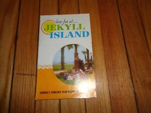 Vintage Brochure with Map for Jekyll Island Georgia