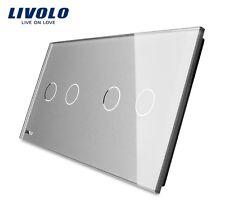 2 Fach Glas Abdeckung für Touch Serienschalter Rolladenschalter Livolo 2G+2G