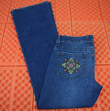 L.E.I. Chelsea Low RIse Womens Blue Jeans Size 5 28X31 Boot Cut Flare Distressed