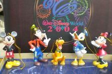 WALT DISNEY WORLD STORYBOOK COLLECTION ORNAMENT SET 6 XMAS TREE DECORATIONS 2004