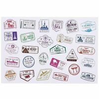 810x Travel Stickers, Stamps Sealing Vinyl Decals for luggage Decor, 1.6 x 1 in.