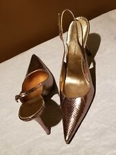 Dolce & Gabbana  silver/metallic high heel slingbacks, EURO 39 ( US 8.5)