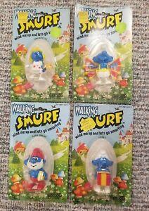 Vintage Smurfs Walking Wind-Up Toy Lot- Galoob 1982