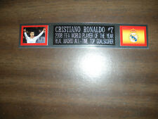 CRISTIANO RONALDO (SOCCER) NAMEPLATE FOR SIGNED BALL CASE/JERSEY CASE/PHOTO