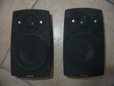 Pair Boston Acoustics Micro 90X Stereo Surround Speakers Black Tested