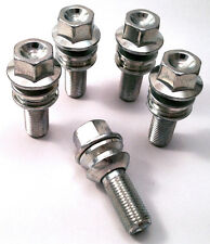 5 x alloy wheel bolts nuts lugs M14 x 1.5 19mm Hex 30mm thread Radius. Porsche