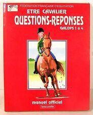 """livre équitation """"etre cavalier galops 1à4-prépa examens"""" ed Maloine 1994"""