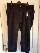 GOK FOR TU BLACK MIDNIGHT BLUE LEOPARD PATTERNED Jeans Size 20 Short - NWTs