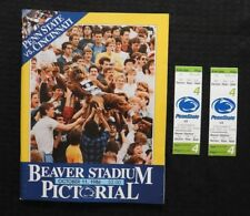 OCT 11 1986 PENN STATE LIONS vs CINCINNATI FOOTBALL PROGRAM + 2 FULL TICKETS NMT