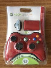 Xbox 360 Limited Edition Red Wireless Controller and Play & Charge Kit Brand New