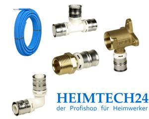 Alpex F50 Profi / alpex L, Rohr, Winkel, T-Stücke, Übergänge, Fittinge etc.