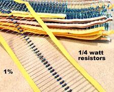 10 pcs 1 MEG ohm 1/4W 0.25W 1% Metal Film Resistor