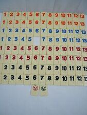 Rummikub 1990 Pressman Rummy Tile Game Set of 105 Replacement Tiles FREE SHIP !!