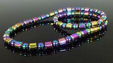 MAGNETIC RAINBOW HEMATITE NECKLACE 6mm Drum beads- ARTHRITIS PAIN