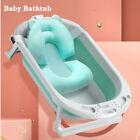 Baby Bath Tub  Folding Portable Bathtub Newborn Shower W/Soft Bath Mat