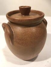 "Rare Hand Signed W. J. Gordy Covered Bean Pot Sugar Bowl Crock 7"" Pottery"