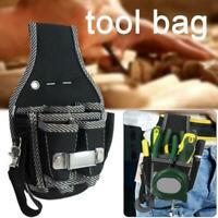 9 in 1 Belt Electrician Waist Pocket Belt Tool Pouch Bag Screwdriver Utility Kit