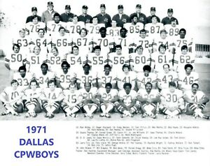 1971 DALLAS COWBOYS 8X10 TEAM PHOTO FOOTBALL PICTURE NFL SBVI CHAMPS B/W