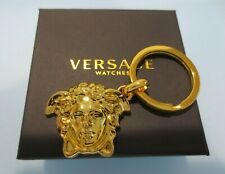 VERSACE Gold Medusa Key chain with Key ring