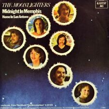 """7"""" THE MOONLIGHTERS Midnight In Memphis b/w Home In San Antone 45rpm LINE D 1980"""