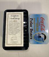 Coca Cola Polar Bear Limited Edition Collectors Metal Trading Cards VINTAGE 1996
