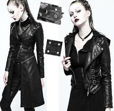 Manteau blouson cuir transformable gothique punk métal clouté spike PunkRave