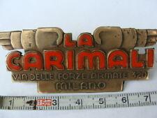 Placca La Carimali macchina da caffè espresso a leva emblem badge old coffee