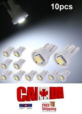 10x T10 194 168 1SMD LED Car Auto Side Lamp Dome Wedge Light Bulb White 6000k
