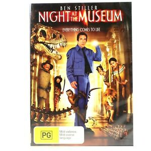 Night At the Museum Ben Stiller Comedy DVD R4 Good Condition