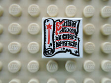 Lego 1 x Fliese 3068bp40 weiß 2x2 bedr. Buch Zauberrolle 6076 6093 5988 4735