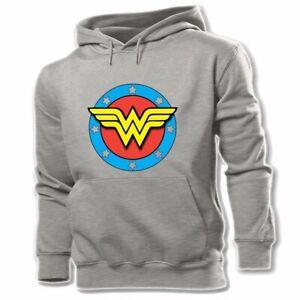 Wonder Woman Symble Design Sweatshirt Fashion Hoodie Hooded Pullover Jumper Tops