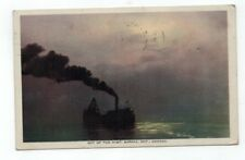 "CANADA Sarnia Ontario 1933 post card Ship ""Out of the Mist"" at Sarnia"