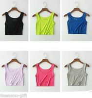 NEW Fashion Lace Womens Girls Tank Top Vest Camisole Crop Shirt T Shirt CDO