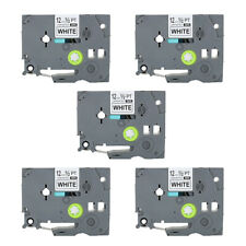 5PK 12mm tze tape TZe231 p touch tz tape label Compatible for Brother TZ PT-H105