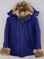 Donna Woolrich Giacca Beige Coyote Pelliccia Piumino Pieno Caldo Inverno L UK14