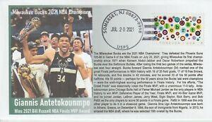 6° Cachets Milwaukee Bucks 2021 NBA Champs Greek Freak Giannis Antetokounmpo MVP