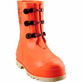 Tingley 82330 HazProof Steel Toe Boots, Orange/Cream, Sure Grip Outsole, Size 13