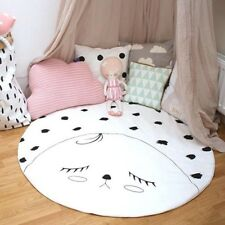90cm Baby Round White Crawl Mat Baby Play Activity Pad Insole Girl Room Home