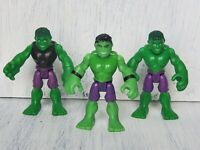 "Marvel Super Hero Squad Lot of 3 Hulk Action Figures 2.5"""
