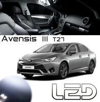 AVENSIS 3 T27 9 Ampoules LED Blanc éclairage Habitacle Plafonnier Coffre Portes
