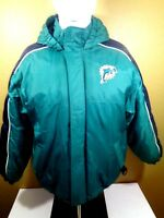Vintage 90s Miami Dolphins Starter Jacket Mens Full Zip Hood Puffer Style Size L