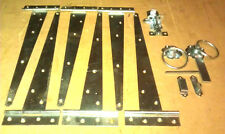 Garden Gate Set Hinges latch and padbolt for double wooden driveway gates