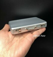1/6 Scale Silver Suitcase for 12'' Action Figure Doll Accessories