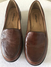 Softspots Tan Leather Loafers Women's Size 8W