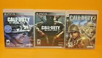 PS3 Sony Playstation 3 GAME Lot - Call of Duty 3, Ghosts, Black Ops - Tested