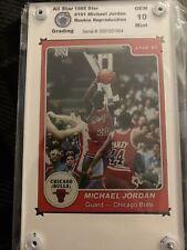 1984 1985 Star Michael Jordan (GOAT) RC Rookie GENUINE RP #101 Gem Mint 10 HOF
