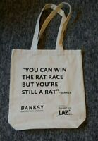 Banksy Lazinc Tote Bag Unused - Banksy Greatest Hits: 2002-2008. Exhibition Bag